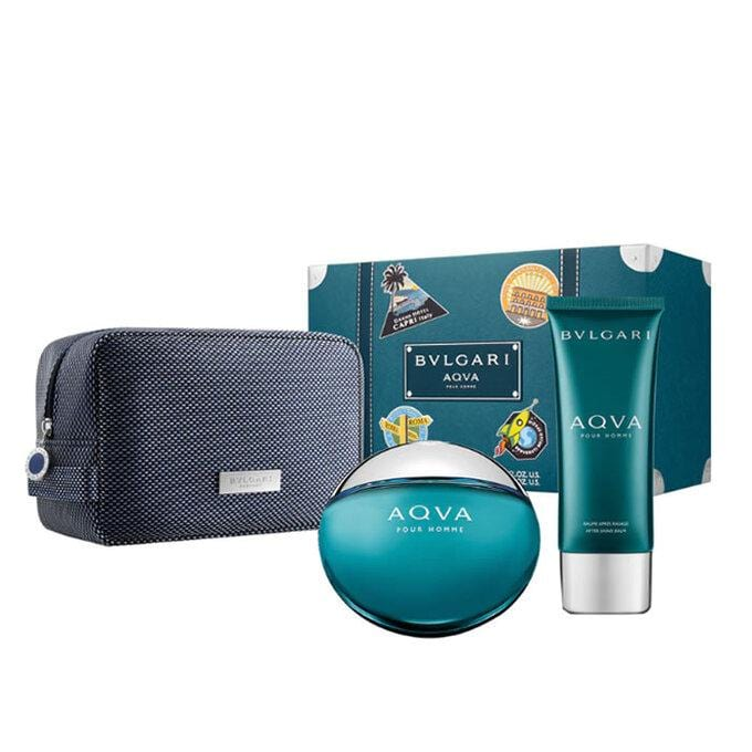 Bvlgari Aqua Marine 100ml EDT+ 100ml After Shave + Toilette Bag
