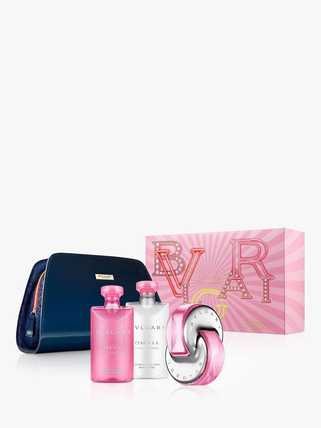 Bvlgari Omnia Pink 65ml EDT + Body Lotion + Shower Gel + Beauty Pouch