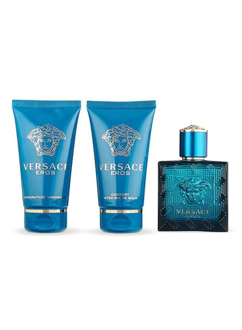 Versace Eros 50ml EDT +50ml After Shave +50ml Shower Gel