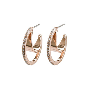 Pilgrim Rose Gold Beauty Crystal Hoops