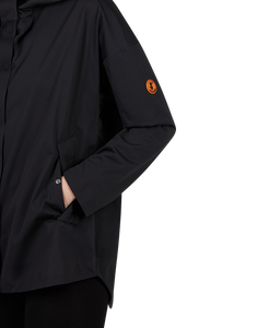 Save The Duck Womens BARK Long Hooded Jacket