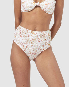 Cabo Smocked High Waisted Brief
