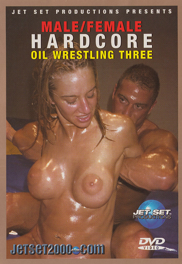 HARDCORE MALE/FEMALE OIL WRESTLING 3