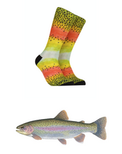 Load image into Gallery viewer, Rainbow Trout Socks