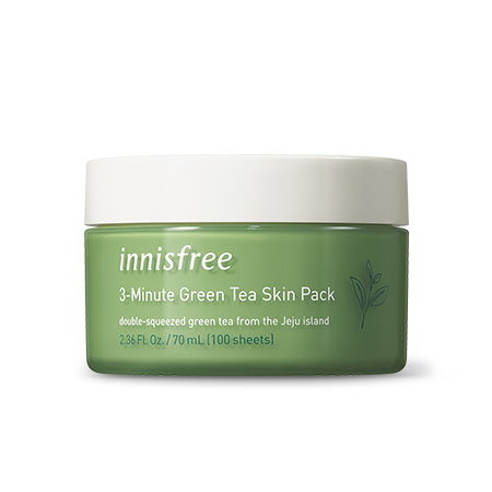 three min green tea skin
