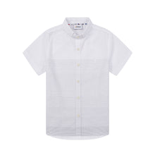 Load image into Gallery viewer, Mini White Stripe S/S Shirt (Daddy & Son)