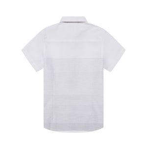 Mini White Stripe S/S Shirt (Daddy & Son)