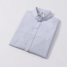 Load image into Gallery viewer, Mini Blue Stripe S/S Shirt (Daddy & Son)