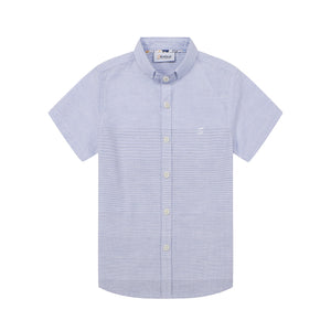 Mini Blue Stripe S/S Shirt (Daddy & Son)