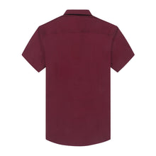 Load image into Gallery viewer, Burgundy Oxford S/S Shirt