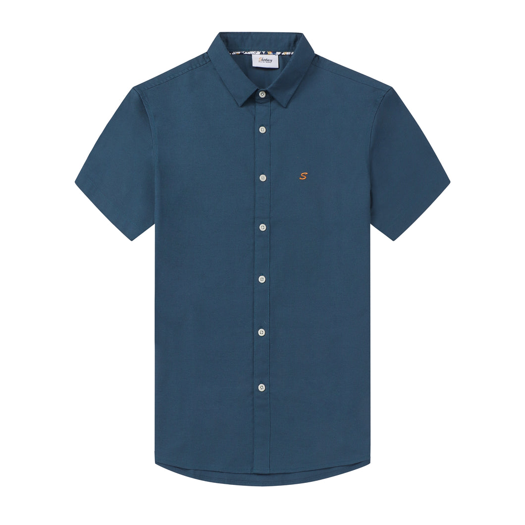 Teal Oxford S/S Shirt