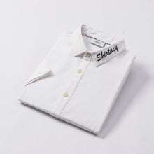 Load image into Gallery viewer, Shirtacy White Embroidery S/S Shirt