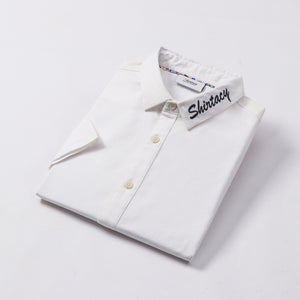 Shirtacy White Embroidery S/S Shirt