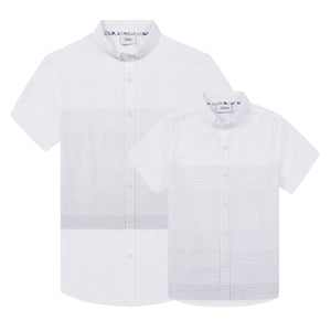 White Stripe S/S Shirt (Daddy & Son)