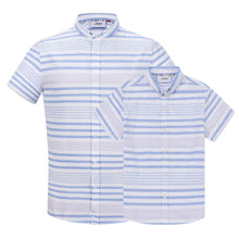 Load image into Gallery viewer, Blue Multi-Stripe S/S Shirt (Daddy & Son)