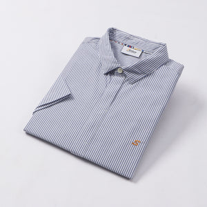 Fine Navy Stripe S/S Shirt