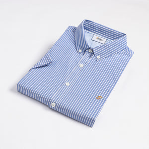 Blue Stripe Button Down S/S Shirt