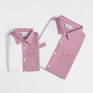 Mini Colour Block S/S Shirt (Daddy & Son)