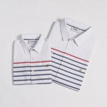 Load image into Gallery viewer, Contrast Stripe S/S Shirt (Daddy & Son)