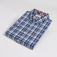 Load image into Gallery viewer, Navy Western Check S/S Shirt (Daddy & Son)