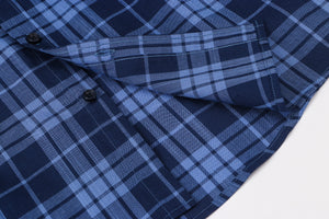 Navy Western Check S/S Shirt
