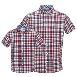 Mini Red Western Check S/S Shirt (Daddy & Son)