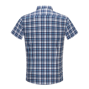 Navy Western Check S/S Shirt (Daddy & Son)