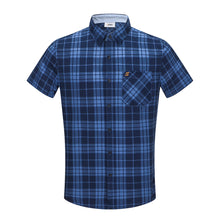 Load image into Gallery viewer, Navy Western Check S/S Shirt