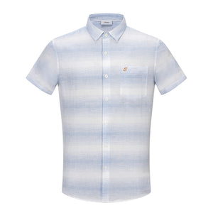 Blue Spaced Dye Stripe S/S Shirt (Daddy & Son)