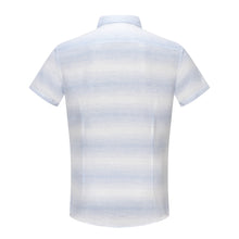 Load image into Gallery viewer, Blue Spaced Dye Stripe S/S Shirt (Daddy & Son)
