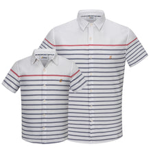 Load image into Gallery viewer, Mini Contrast Stripe S/S Shirt (Daddy & Son)