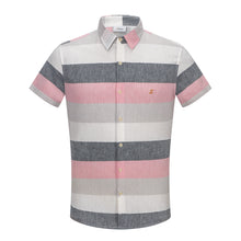 Load image into Gallery viewer, Pink Multi-Colour Stripe S/S Shirt