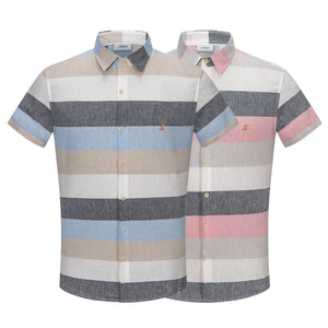 Pink Multi-Colour Stripe S/S Shirt