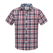 Load image into Gallery viewer, Mini Red Western Check S/S Shirt (Daddy & Son)