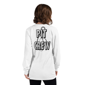 Pit Crew Long Sleeve T-Shirt-Marching Arts Merchandise-White-S-Marching Arts Merchandise