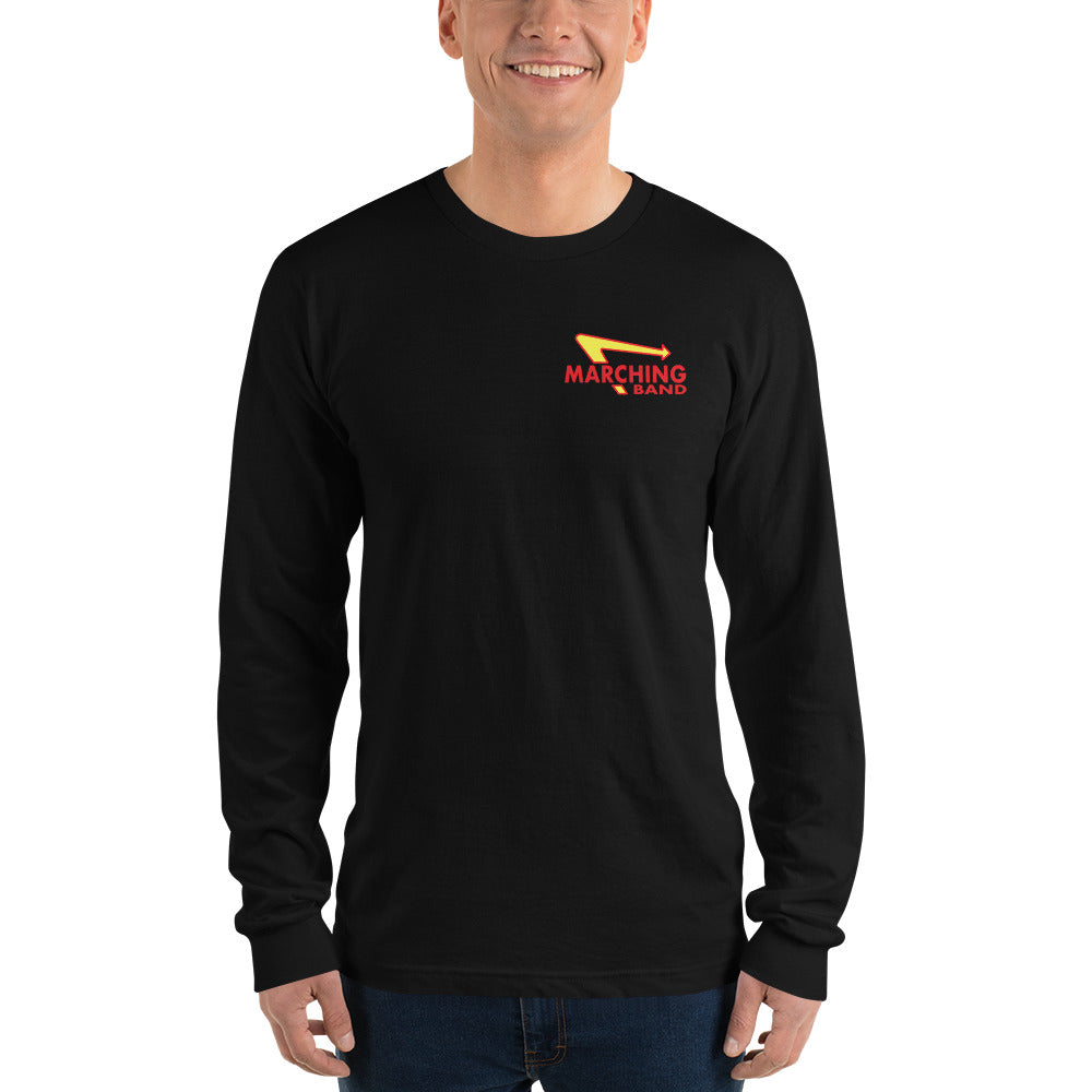 Marching Burgers Unisex Long Sleeve Shirt-Marching Arts Merchandise-Black-S-Marching Arts Merchandise