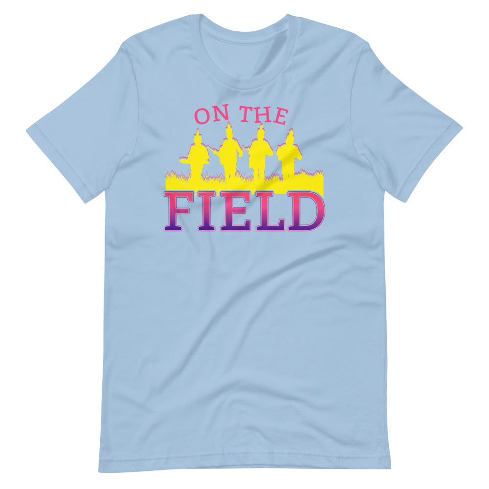 On The Field Marching Band Short-Sleeve Unisex T-Shirt-Marching Arts Merchandise-Light Blue-XS-Marching Arts Merchandise