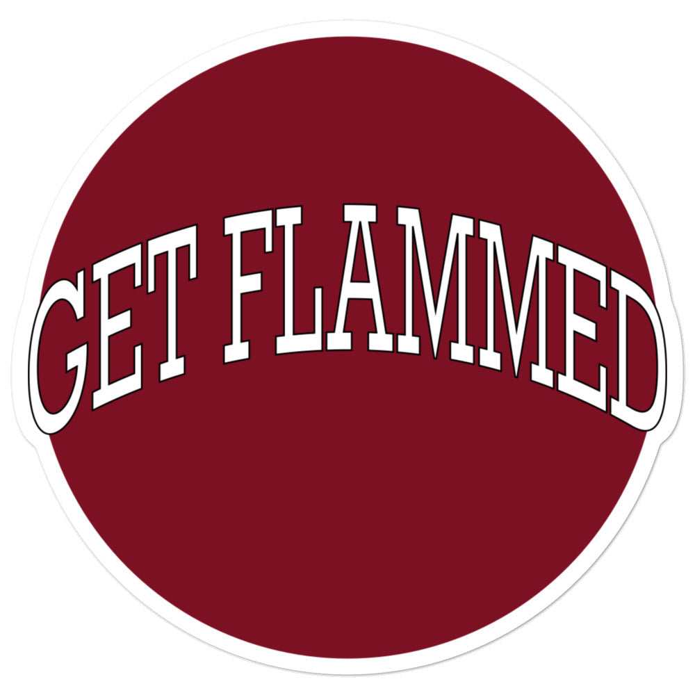 Get Flammed Bubble-Free Stickers-Marching Arts Merchandise-5.5x5.5-Marching Arts Merchandise