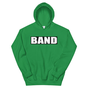 BAND Band Marching Band Unisex Hoodie-Hoodie-Marching Arts Merchandise-Irish Green-S-Marching Arts Merchandise
