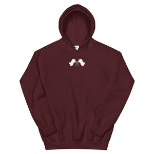 Minimalist Color Guard Unisex Hoodie-Marching Arts Merchandise-Maroon-S-Marching Arts Merchandise