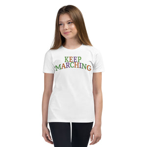 Keep Marching Youth Short Sleeve T-Shirt-Marching Arts Merchandise-Marching Arts Merchandise
