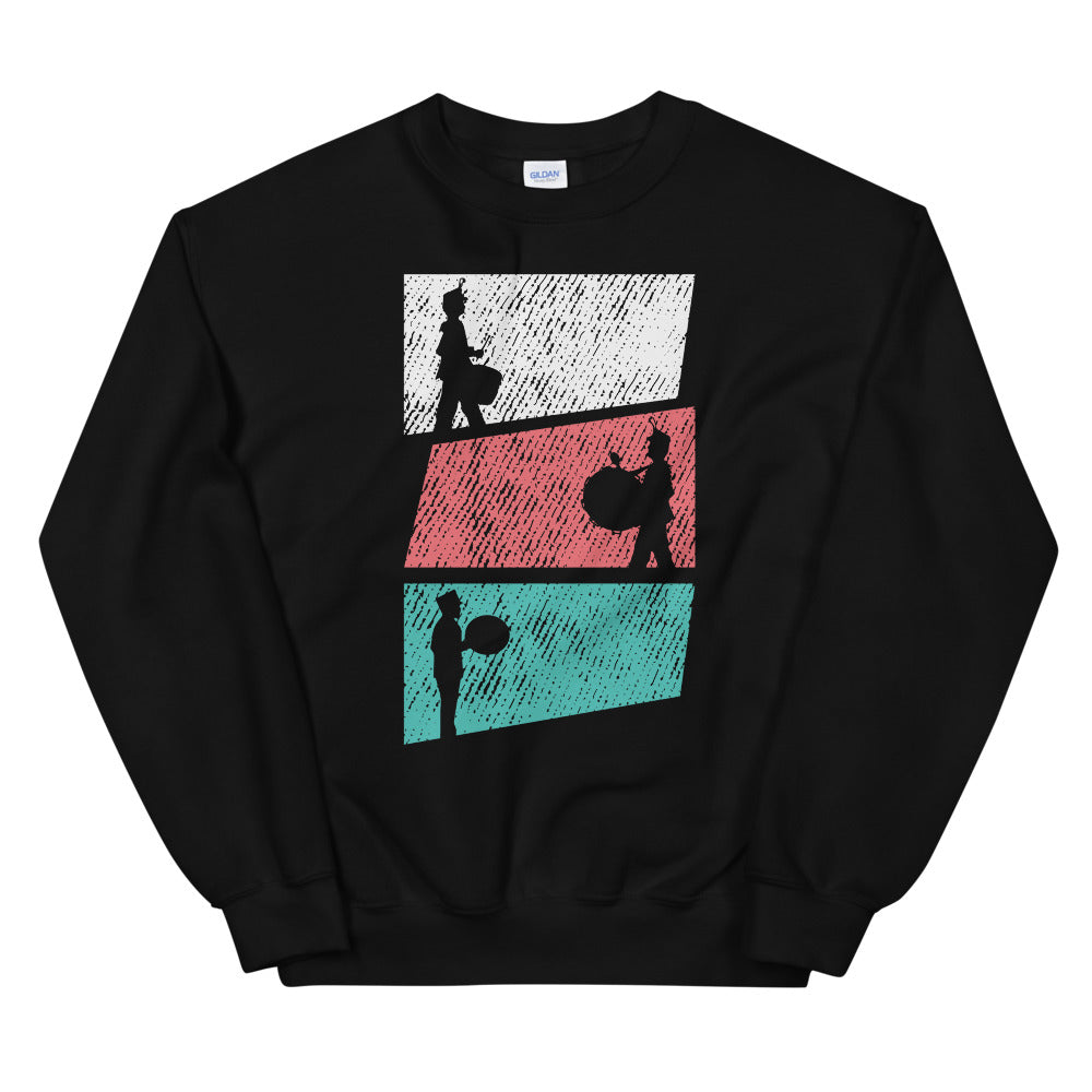 Marching Percussion Unisex Sweatshirt-Marching Arts Merchandise-Black-S-Marching Arts Merchandise