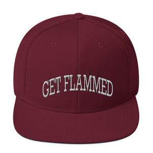 Get Flammed Snapback Hat-Marching Arts Merchandise-Maroon-Marching Arts Merchandise