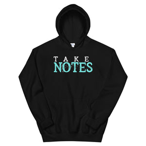 Take Notes Marching Band Unisex Hoodie-Marching Arts Merchandise-Black-S-Marching Arts Merchandise