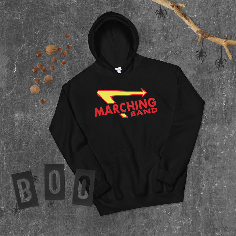 Marching Burgers Unisex Hoodie-Marching Arts Merchandise-Marching Arts Merchandise