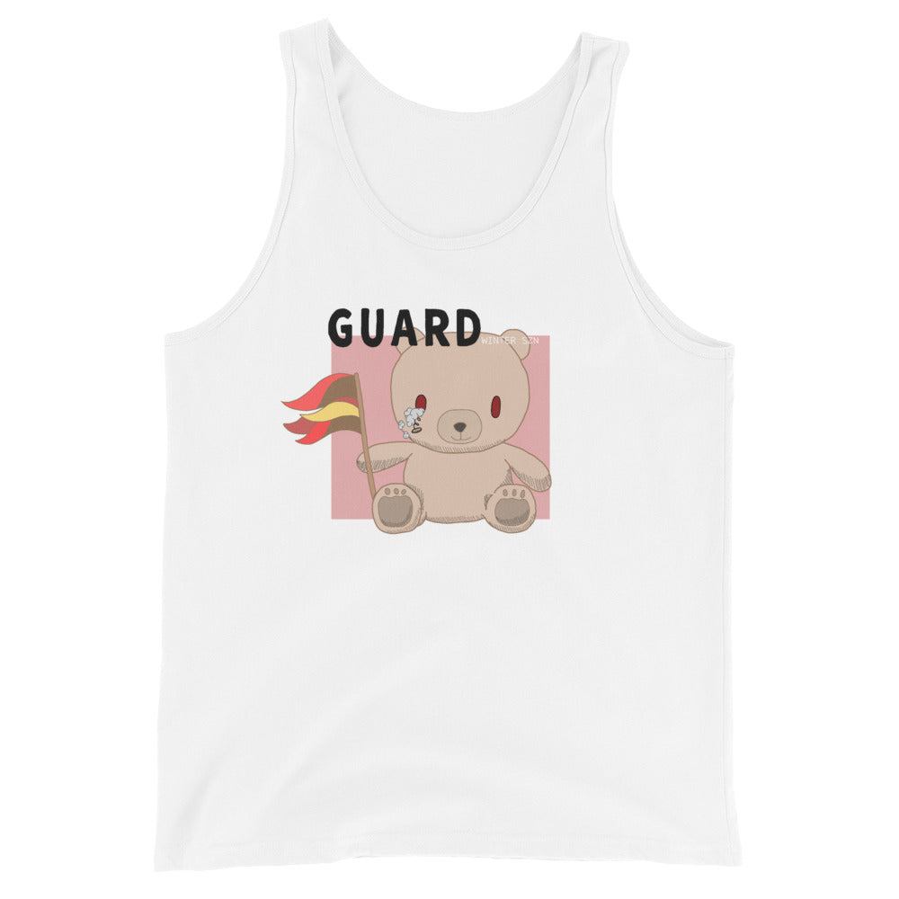 Teddy Flag Color Guard Unisex Tank Top-Marching Arts Merchandise-White-XS-Marching Arts Merchandise