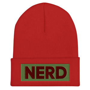 NERD Cuffed Beanie-Marching Arts Merchandise-Red-Marching Arts Merchandise