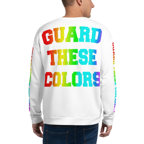 Guard These Colors Pride Unisex Sweatshirt - Marching Arts Merchandise -  - Marching Arts Merchandise - Marching Arts Merchandise - band percussion color guard clothing accessories home goods