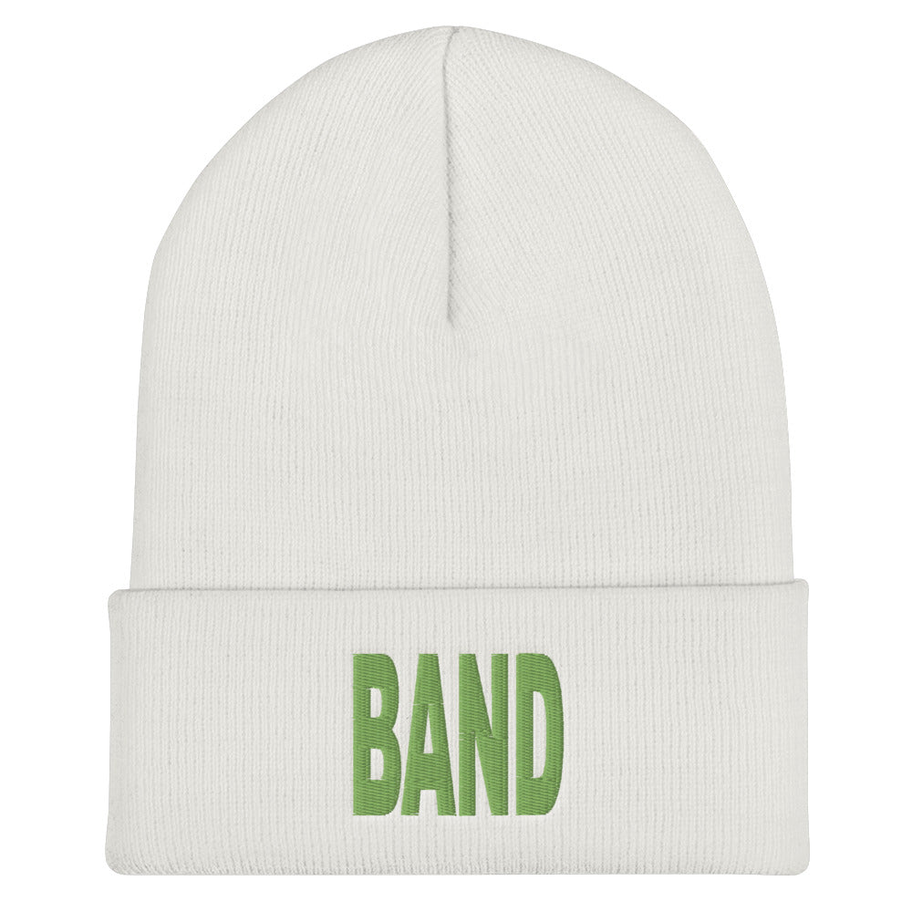 Block Band Marching Band Cuffed Beanie-Beanie-Marching Arts Merchandise-White-Marching Arts Merchandise