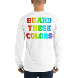 Guard These Colors Pride Color Guard Long Sleeve T-shirt-Long Sleeve Shirt-Marching Arts Merchandise-White-S-Marching Arts Merchandise